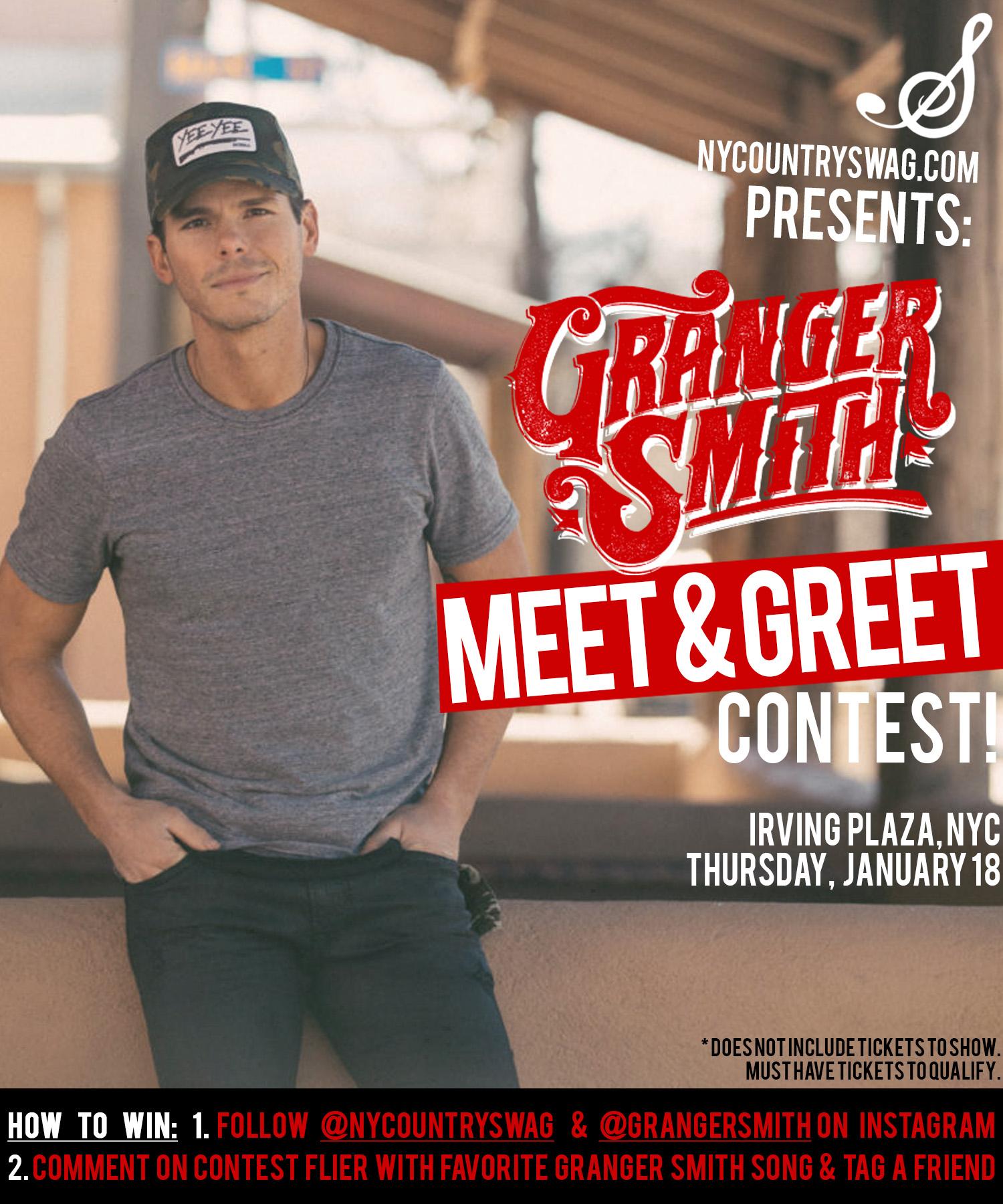 Win a meet greet with granger smith nycs win a meet greet with granger smith nycs m4hsunfo