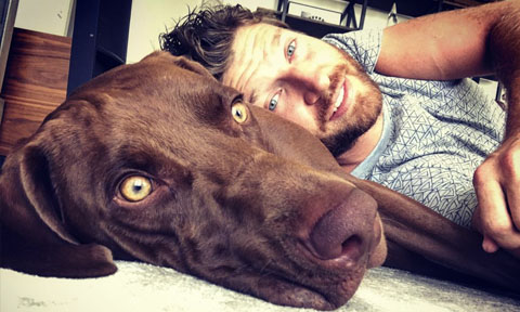 Brett Eldredge with Edgar Boogie