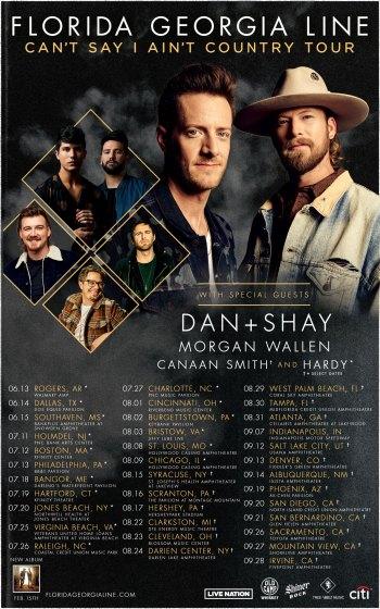 "Florida Georgia Line, ""Can't Say I Ain't Country"" Tour"