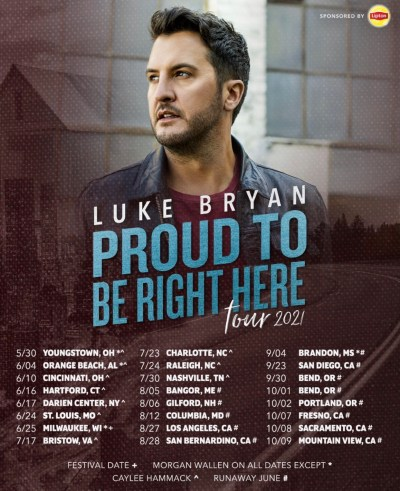 Luke Bryan's NEW 2021 Dates