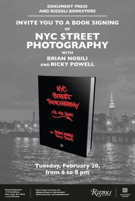 NYC Street Photography Book Signing w/ Brian Nobili & Ricky