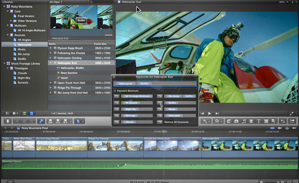 Apple's Final Cut Pro X includes extensive use of metadata.