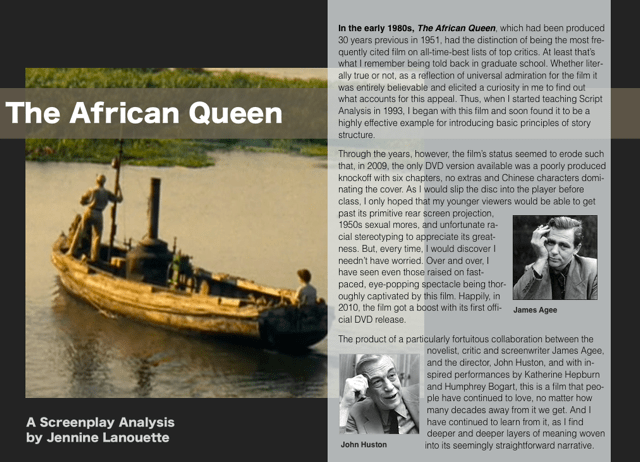The opening screen of Lanouette's 'The African Queen' eBook.