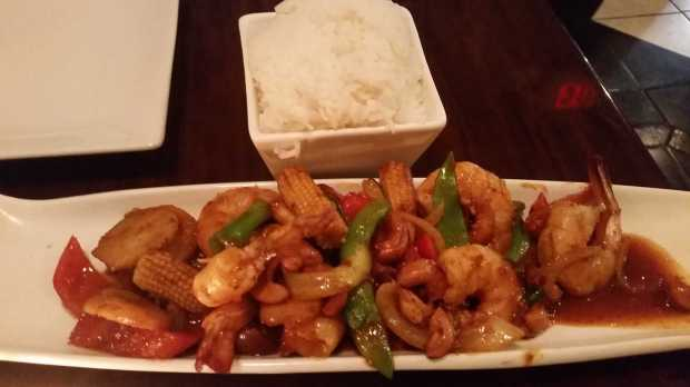 mint's thai kitchen cashew shrimp