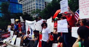 ABD'li Alevilerden Protesto