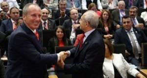CHP 18. Olağanüstü Kurultayı'nda Muharrem İnce'yle yarışan Kemal Kılıçdaroğlu yeniden Genel Başkan seçildi
