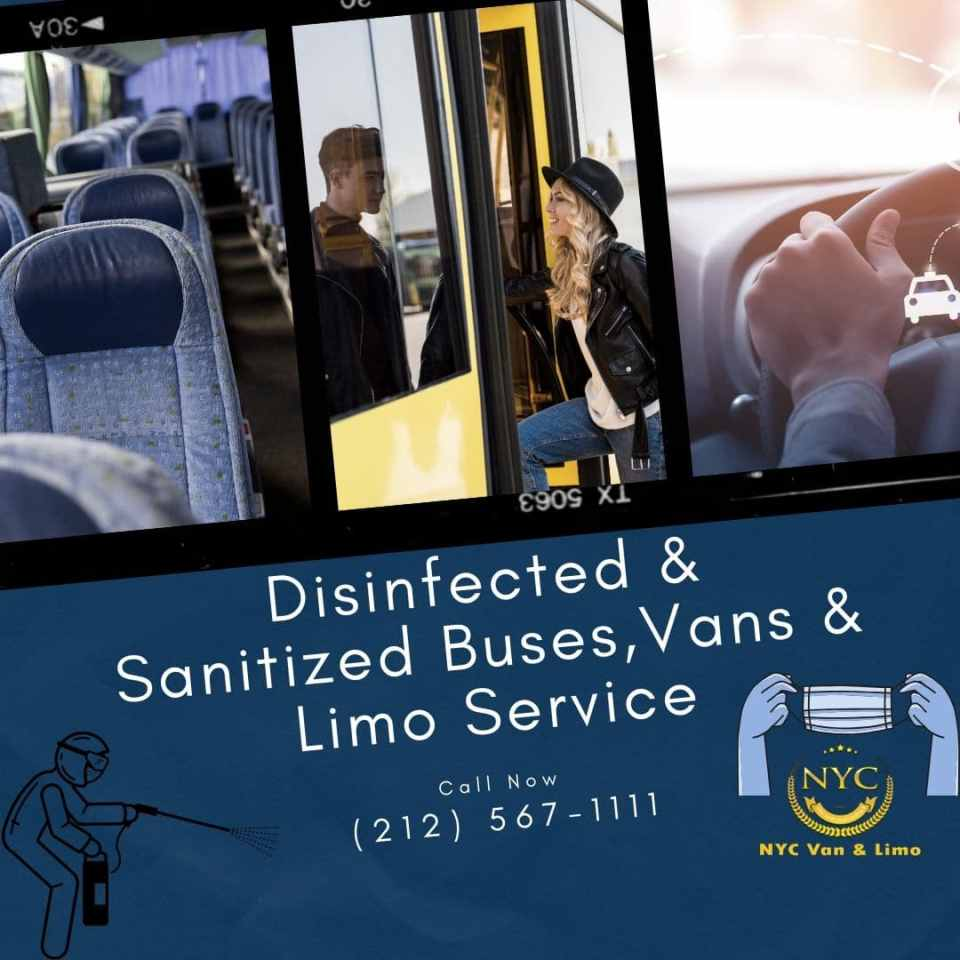 Disinfected & Sanitized Buses,Vans & Limo Service