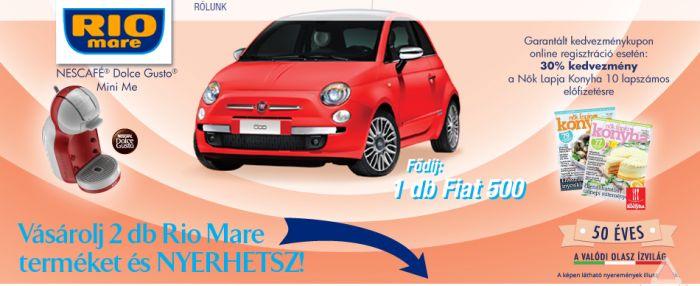 Rio Mare nyereményjáték: Nyerj Fiat gépkocsit