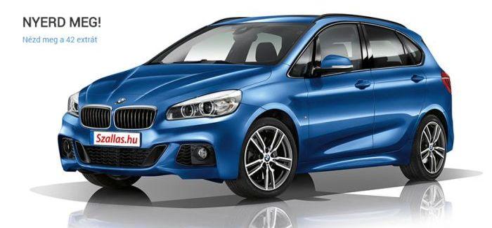 Nyerj egy BMW-t – szallas.hu nyereményjáték