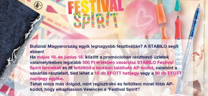 Pirex – Stabilo nyereményjáték: Festival Spirit