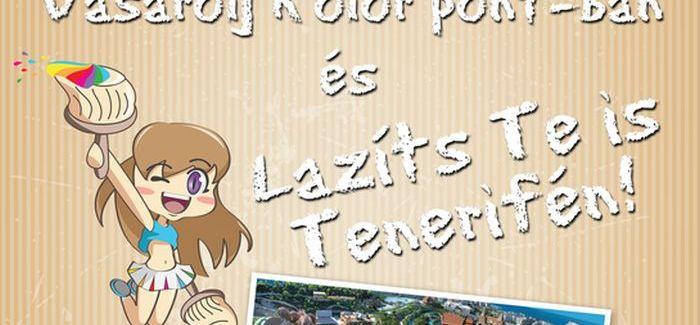 Kolor pont nyereményjáték: Lazíts Tenerifén!