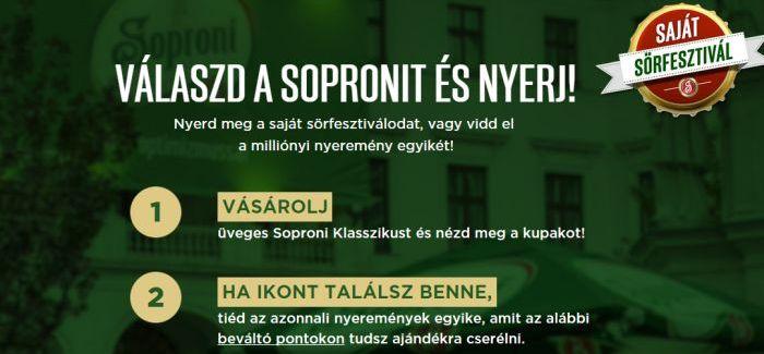 Soproni nyereményjáték: Milliónyi Soproni Élmény
