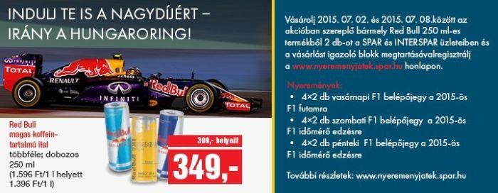 Red Bull nyereményjáték: nyerj Forma-1 belépőt