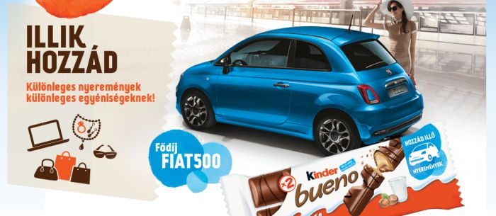 Kinder Bueno nyereményjáték 2016 – nyerj egy Fiat gépkocsit