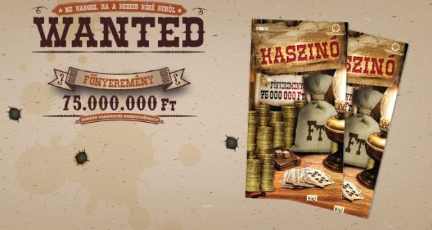 Megérkezett! A Kaszinó sorsjeggyel akár 75 millió forintot is nyerhetsz!