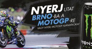 Monster nyereményjáték - játssz és nyerj páros utazást a MotoGP Brno-i futamára, vagy Valentino Rossi sapkát.