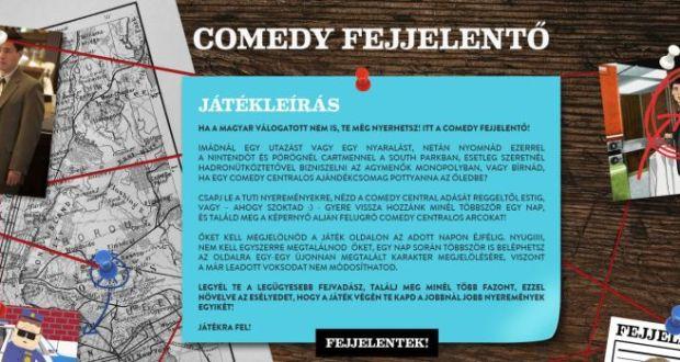 Comedy Fejjelentő - játssz és nyerj értékes utazást.