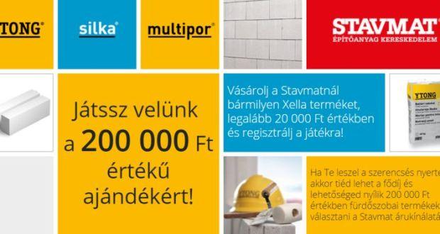 Stavmat nyereményjáték - nyerj értékes ajándékot: a játék július 31-ig tart
