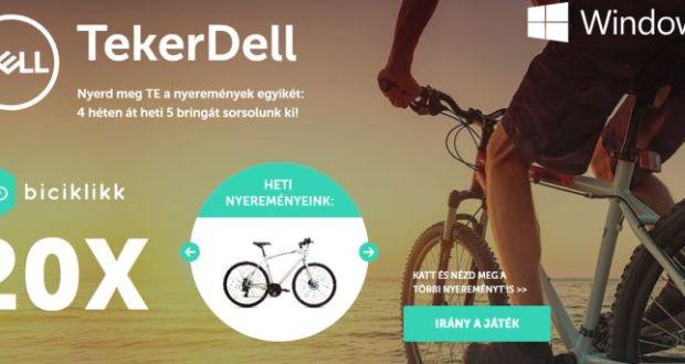 TekerDell - játssz és nyerj kerékpárt.