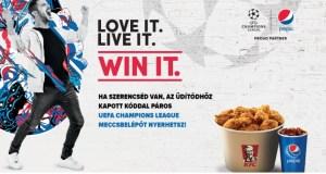 Pepsi-KFC nyereményjáték - játssz és nyerj a kapott kóddal.