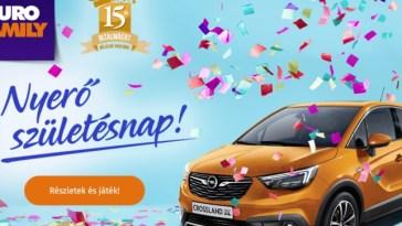 EuroFamilynyereméyjáték - vidd el a gépkocsit! A játék ápriulis 30-ig tart!