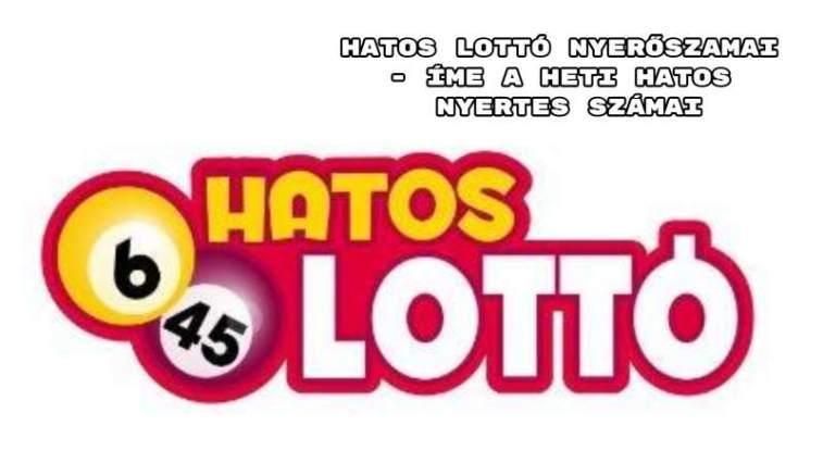 Hatos lottó nyerőszamai - íme a heti hatos nyertes számai