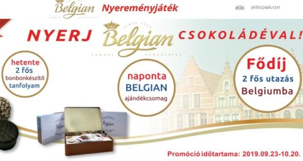 Belgian csokoládé nyereményjáték - nyerj csokit, vagy utazást!