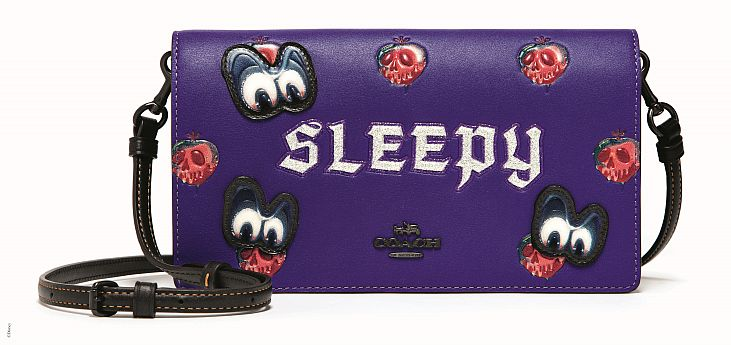 Coach x Disney_33045_Sleepy Foldover Crossbody Clutch