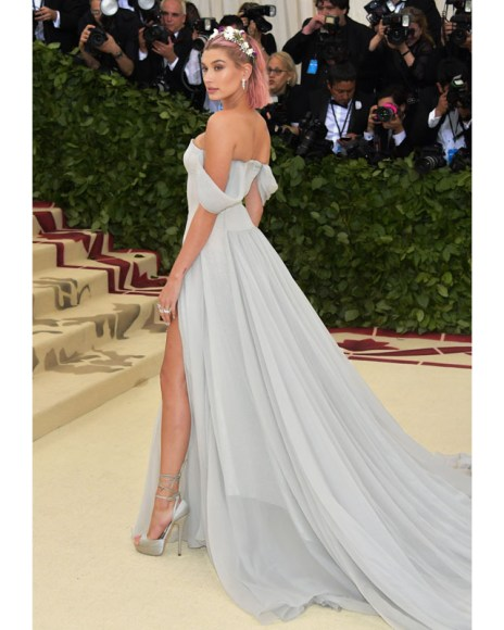 Hailey Baldwin shone in Tiffany diamonds at the 2018 Met Gala
