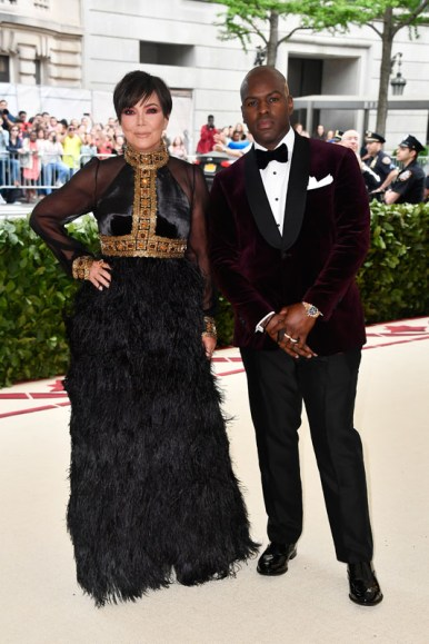 NEW YORK, NY - MAY 07:  Kris Jenner and Corey Gamble attend the Heavenly Bodies: Fashion & The Catholic Imagination Costume Institute Gala at The Metropolitan Museum of Art on May 7, 2018 in New York City.  (Photo by Frazer Harrison/FilmMagic)