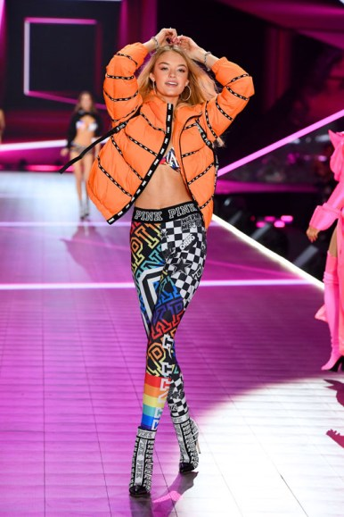 walks the runway during the 2018 Victoria's Secret Fashion Show at Pier 94 on November 8, 2018 in New York City.