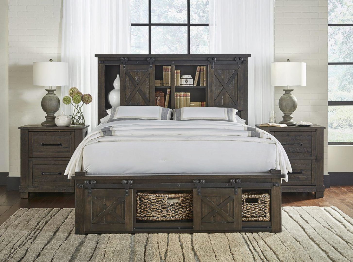 rustic king rotating storage bedroom set 3pcs suvcl5133 a america sun valley