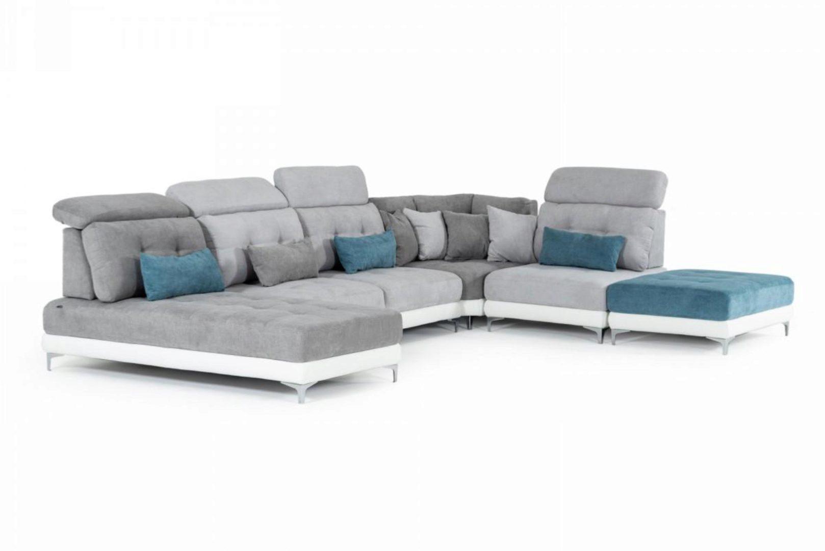 sectional sofa 4pcs ottoman multi color fabric modern made in italy vig david ferrari jive