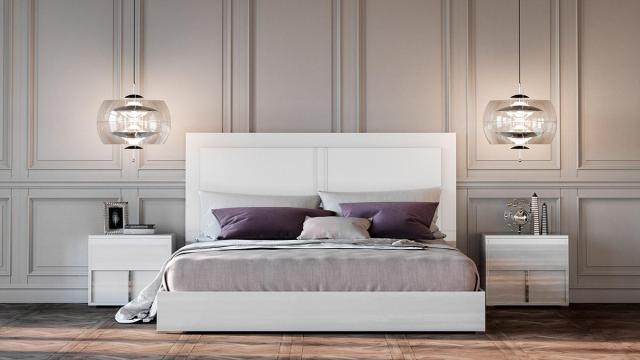 VIG Modrest Nicla Glossy White Queen Bedroom Set 5Pcs ...