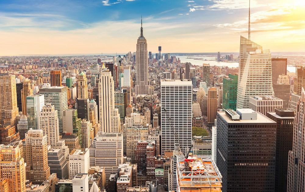 New York City Manhattan at sunset