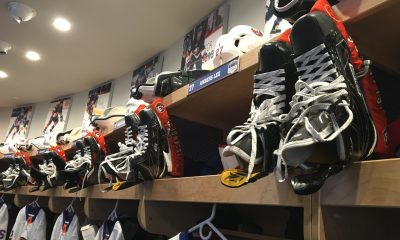 New York Islanders locker room