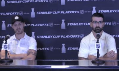 New York Islanders Casey Cizikas and Cal Clutterbuck