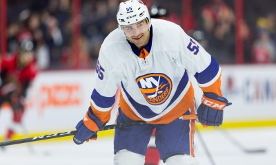 New York Islanders Defenceman Johnny Boychuk (55) during warm-up before National Hockey League action between the New York Islanders and Ottawa Senators