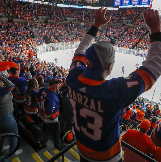 NHL New York Islanders fans at Nassau Coliseum