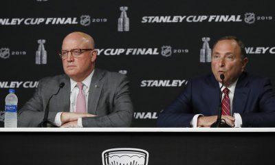NHL Deputy Commissioner Bill Daly III and Commissioner Gary Bettman