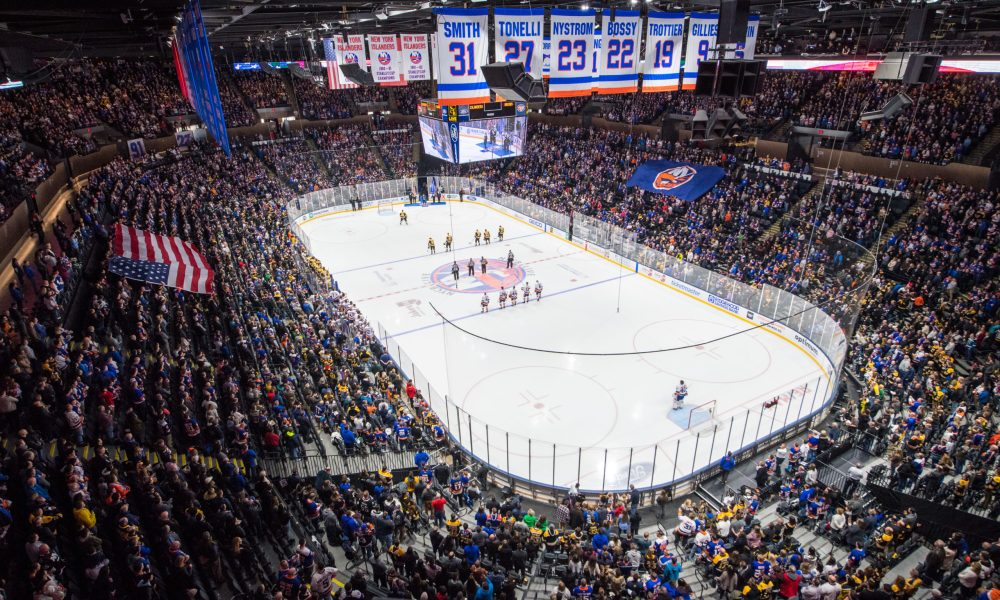 An inside view of the New York Islanders home arena