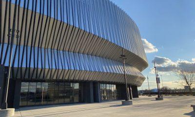 New York Islanders home rink Nassau Coliseum exterior Lauara Curran