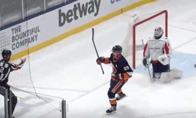 New York Islanders Brock Nelson wins.