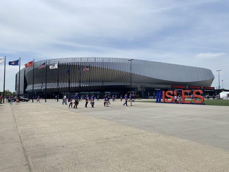 Nassau Coliseum during the playoffs