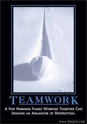 impact of teamwork and collaboration Trust generates the behavior basis of teamwork, which results in organizational collaboration and better performance of an employees development of trust within the organization is the.