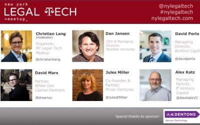 """Recap: """"Investing in Legal Tech"""" Panel"""