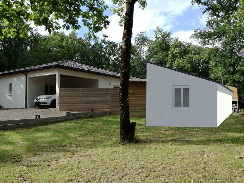 Permis de construire garage à Eymet