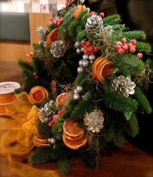 Heals coloured wreath