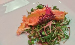 nyloS maui Aina Lani Micro green and salmon salad