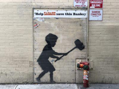 "Banksy ""Hammer Boy"" Mural"